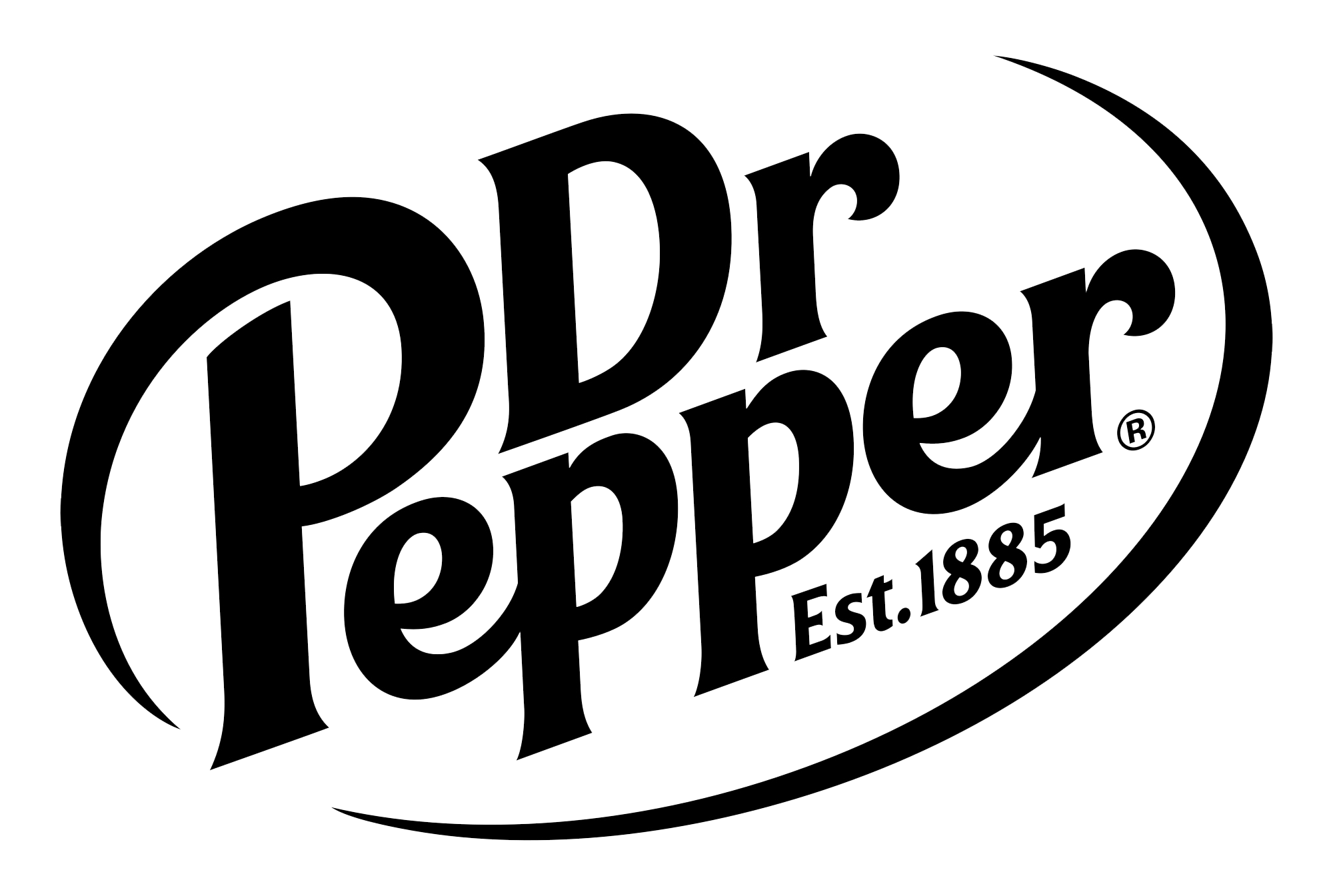 graphic design Dr. pepper logo