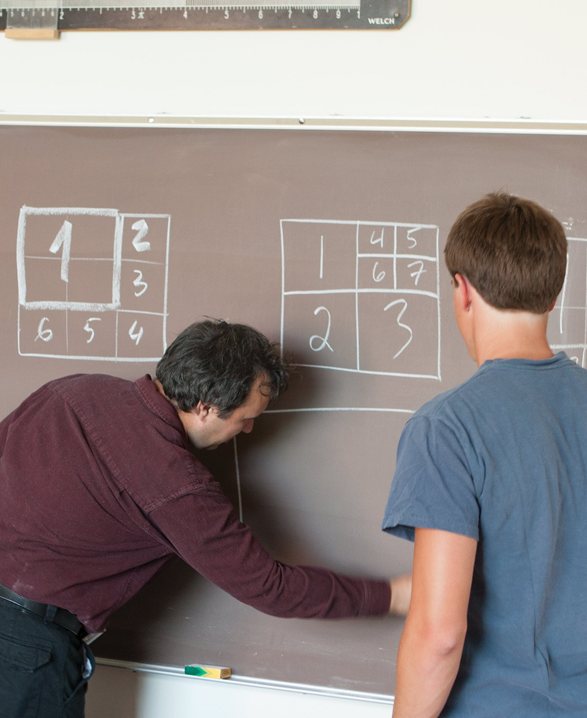 mathematics professor and student