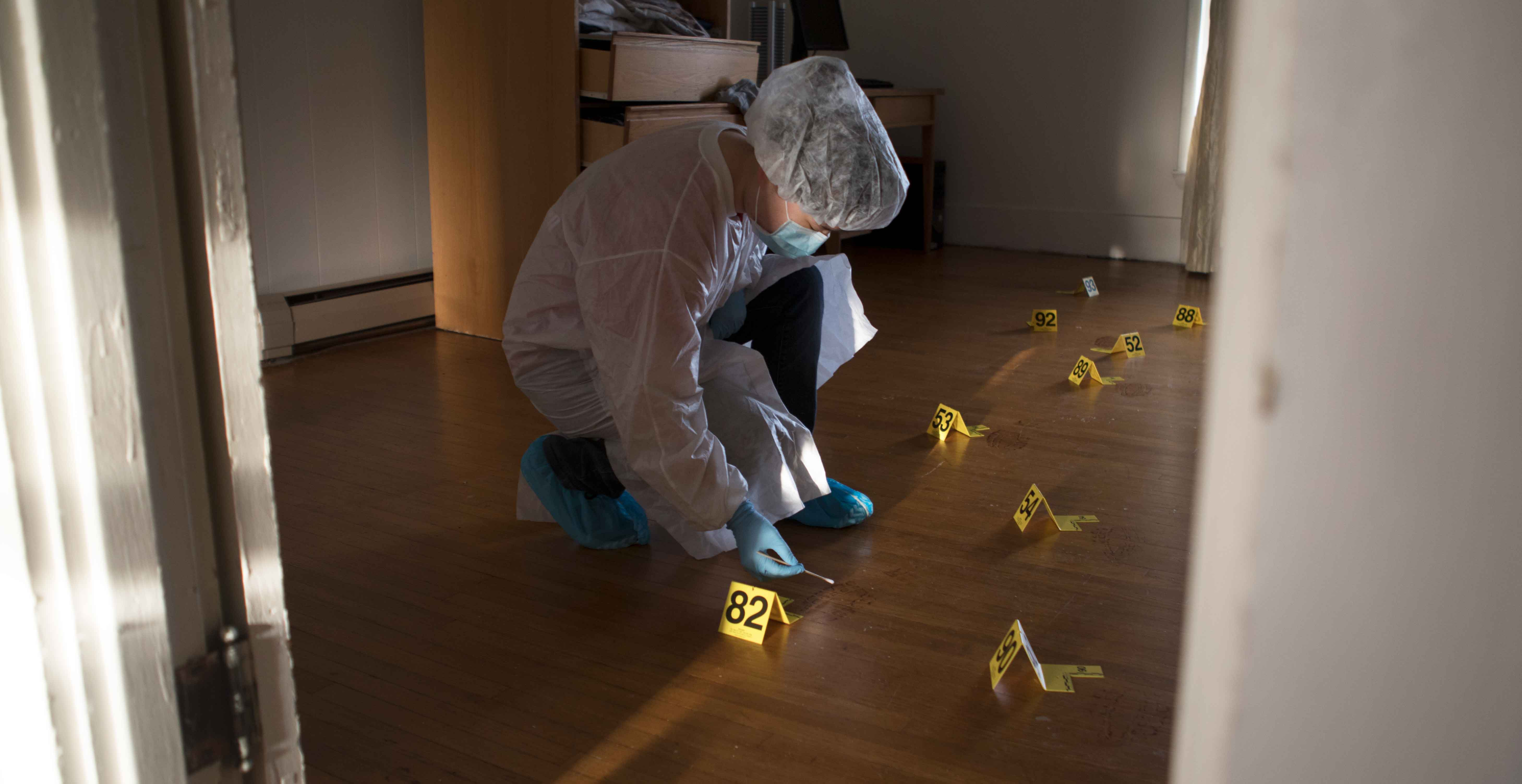 forensic biology crime house