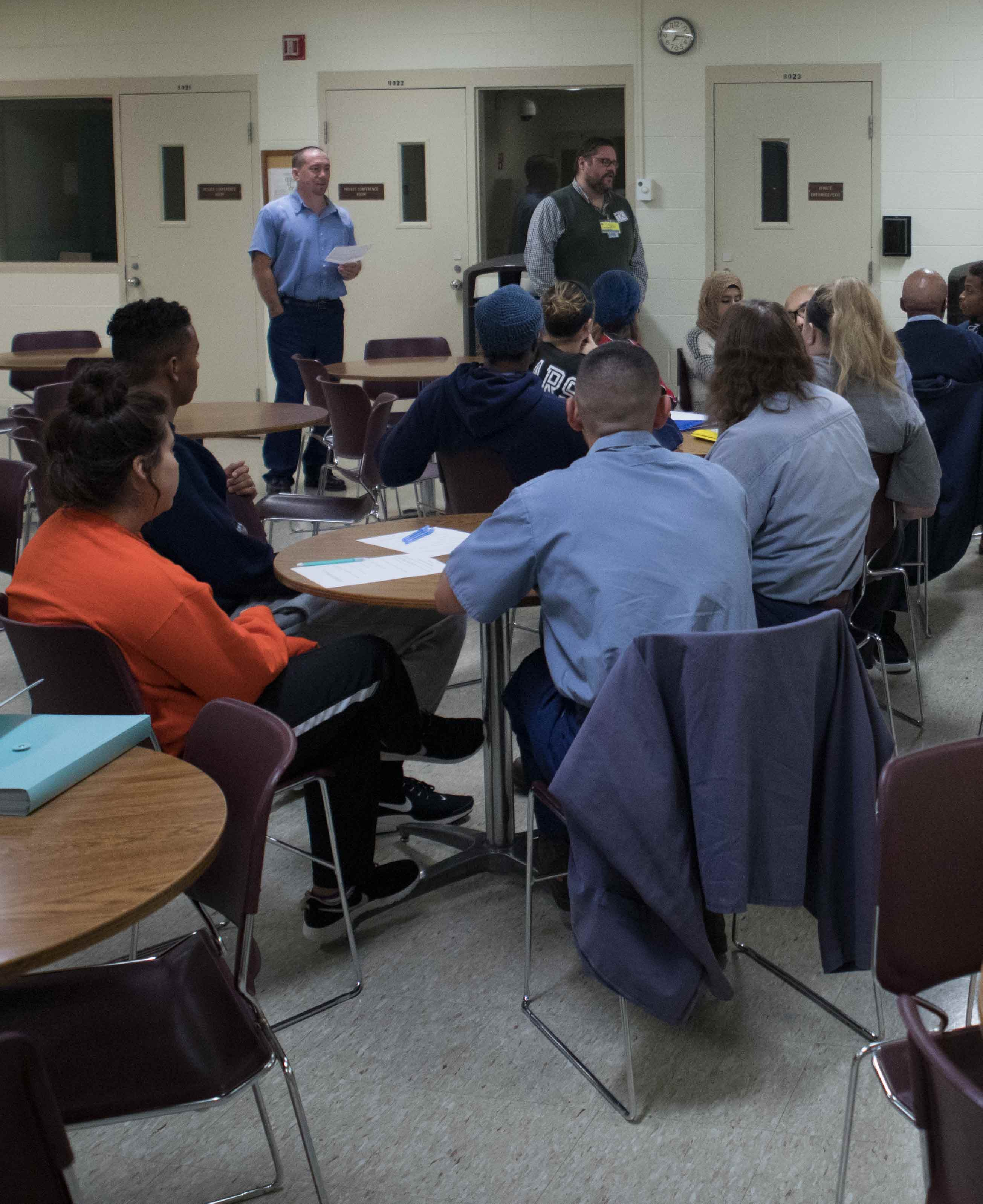 Criminal Justice students listen to inmates