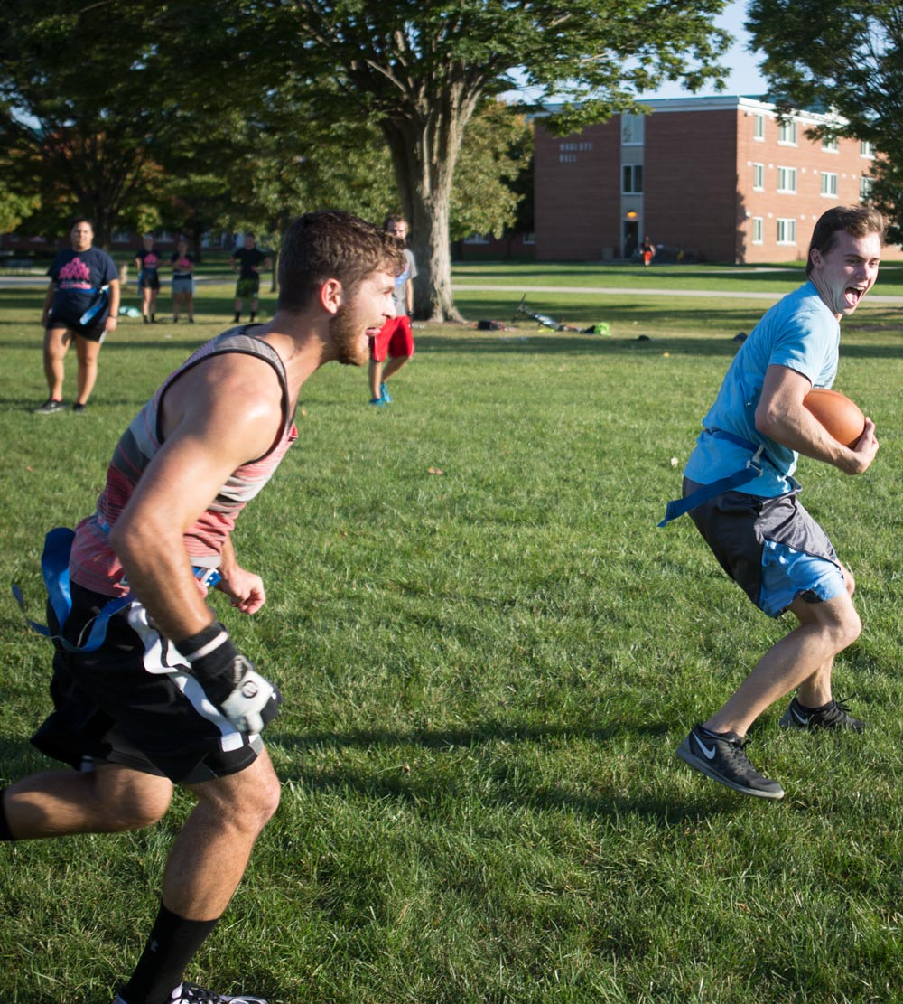 Office of Residence Life hosted flag football on the Tundra for Spirit Week
