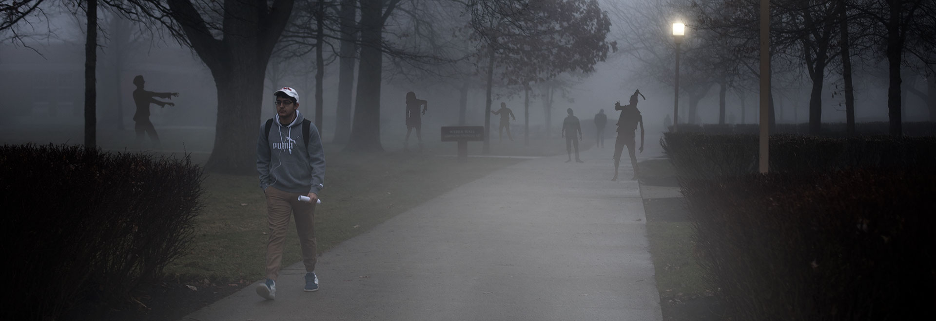 Look out for zombies, ghosts and ghouls on campus during Halloween