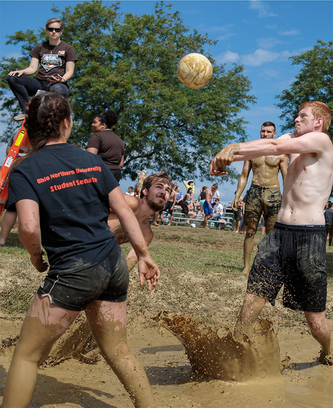 Mud Volleyball at Founders Hall