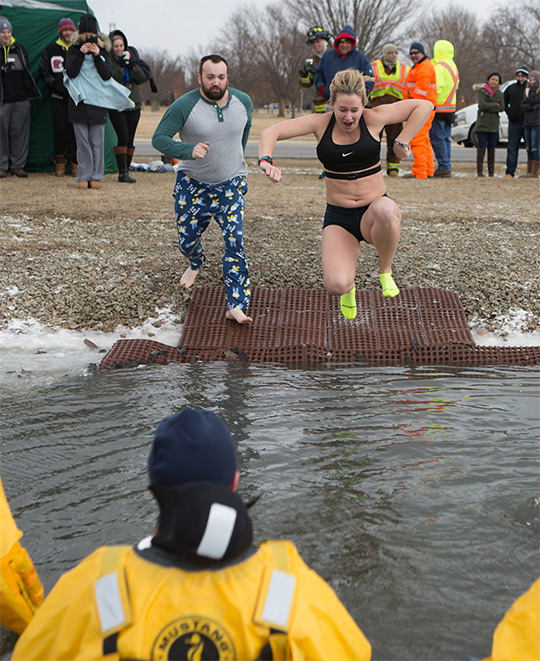 Polar Plunge on the Tundra