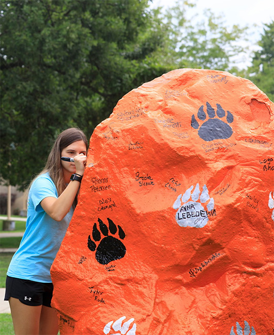 Spirit Rock signing at orientation