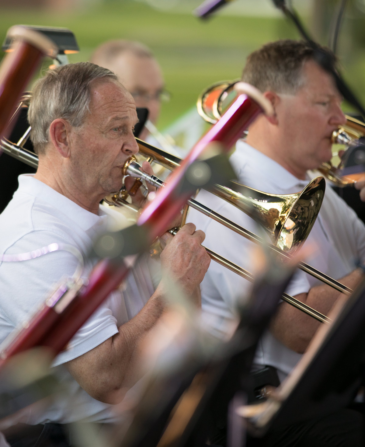 "The Lima Symphony Orchestra played a ""Patriotic Pops"" concert outside of McIntosh Center."