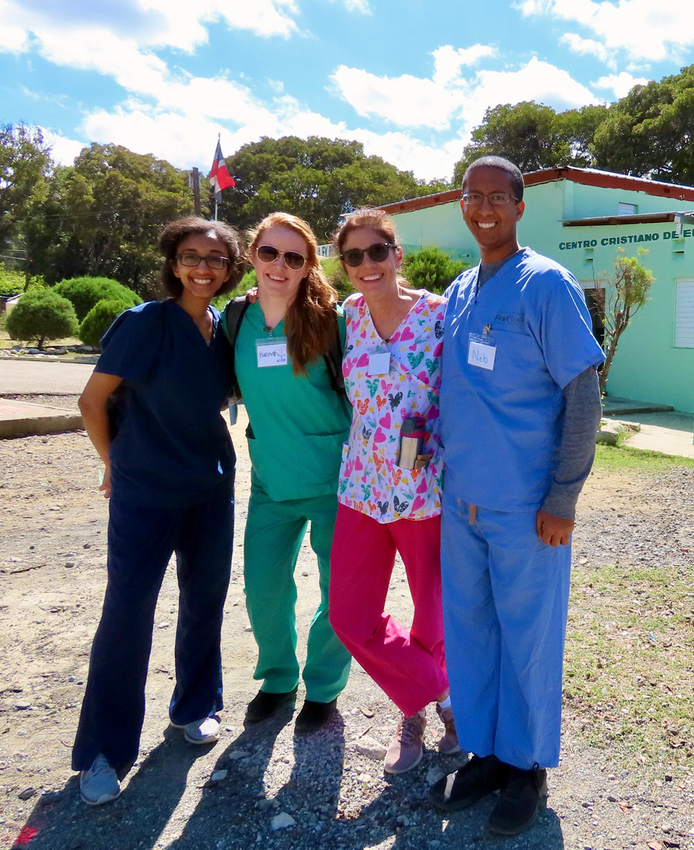 Public health students in the Dominican Republic.