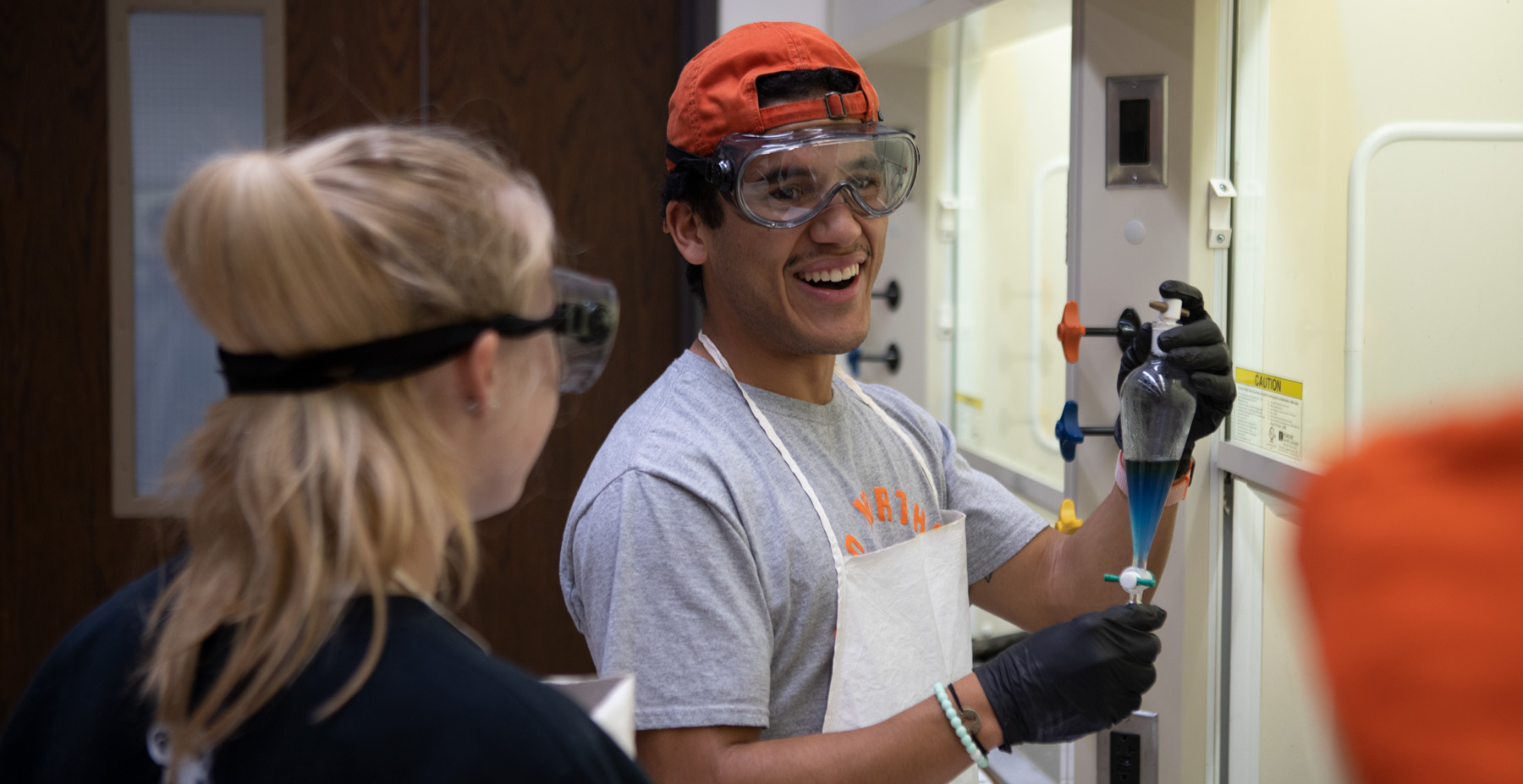 Chemistry students work at Ohio Northern University.