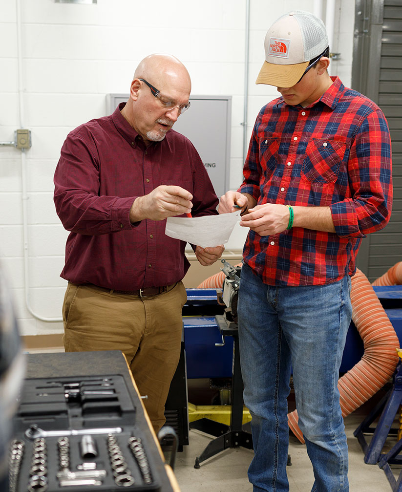 Manufacturing Technology working with professors