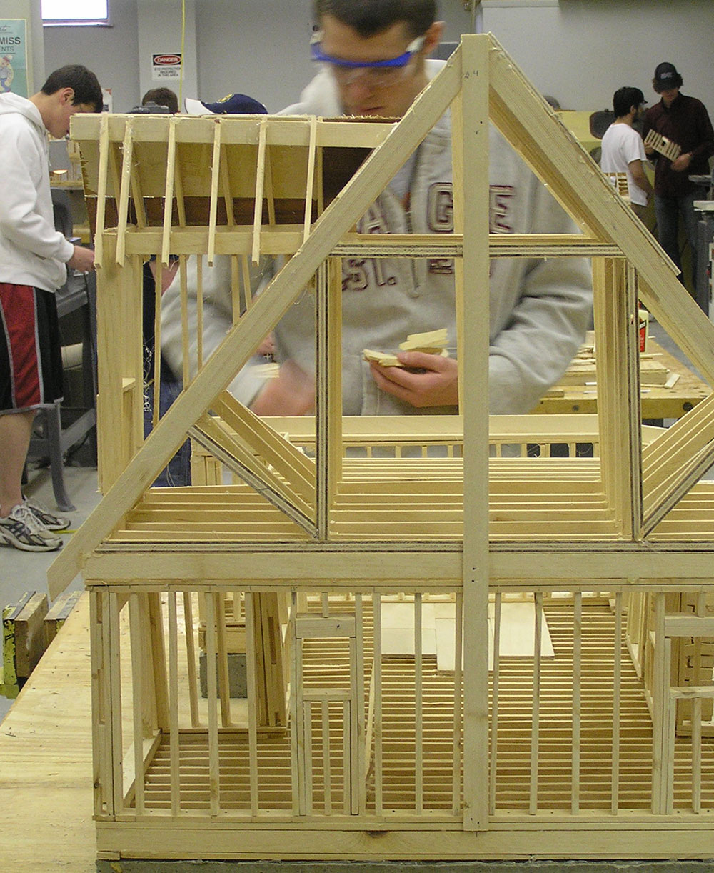 Building a model house in lab