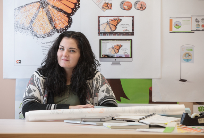Ohio Northern University senior Cathy Jenks is photographed in Wilson Art Building.