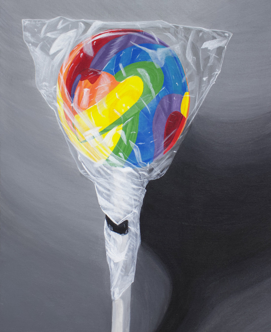 Painting of a lolliepop created by a studio arts student.