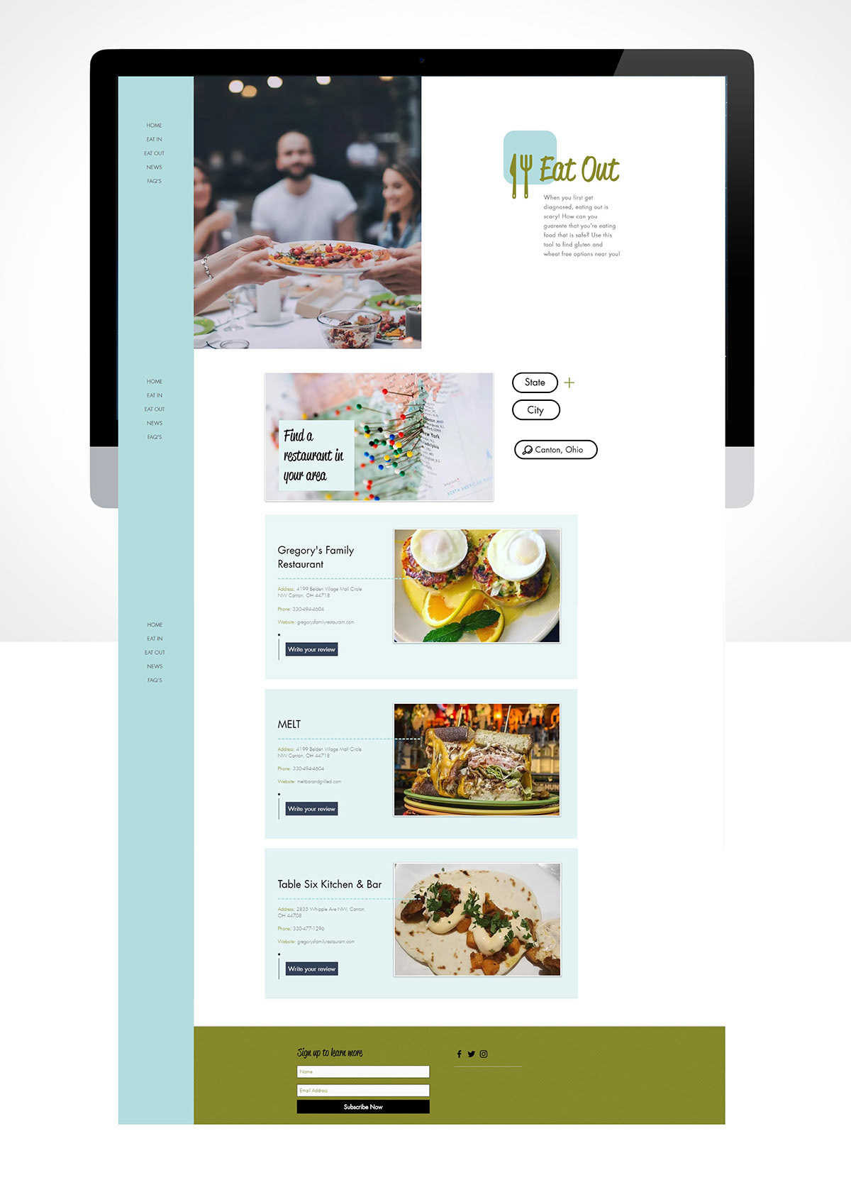 Website design created by a student.