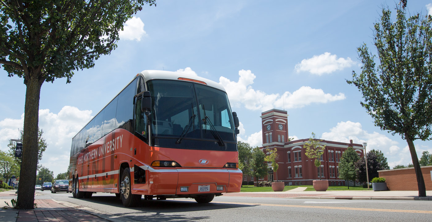 An Ohio Northern University bus received a new exterior design recently.