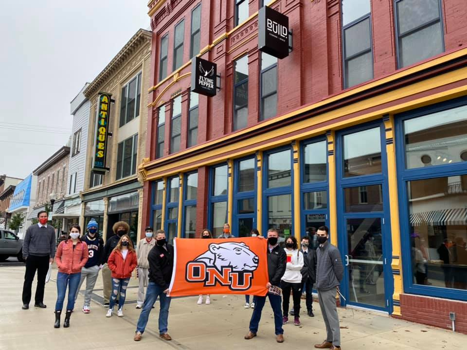 ONU students and alumni in downtown Bellefontaine