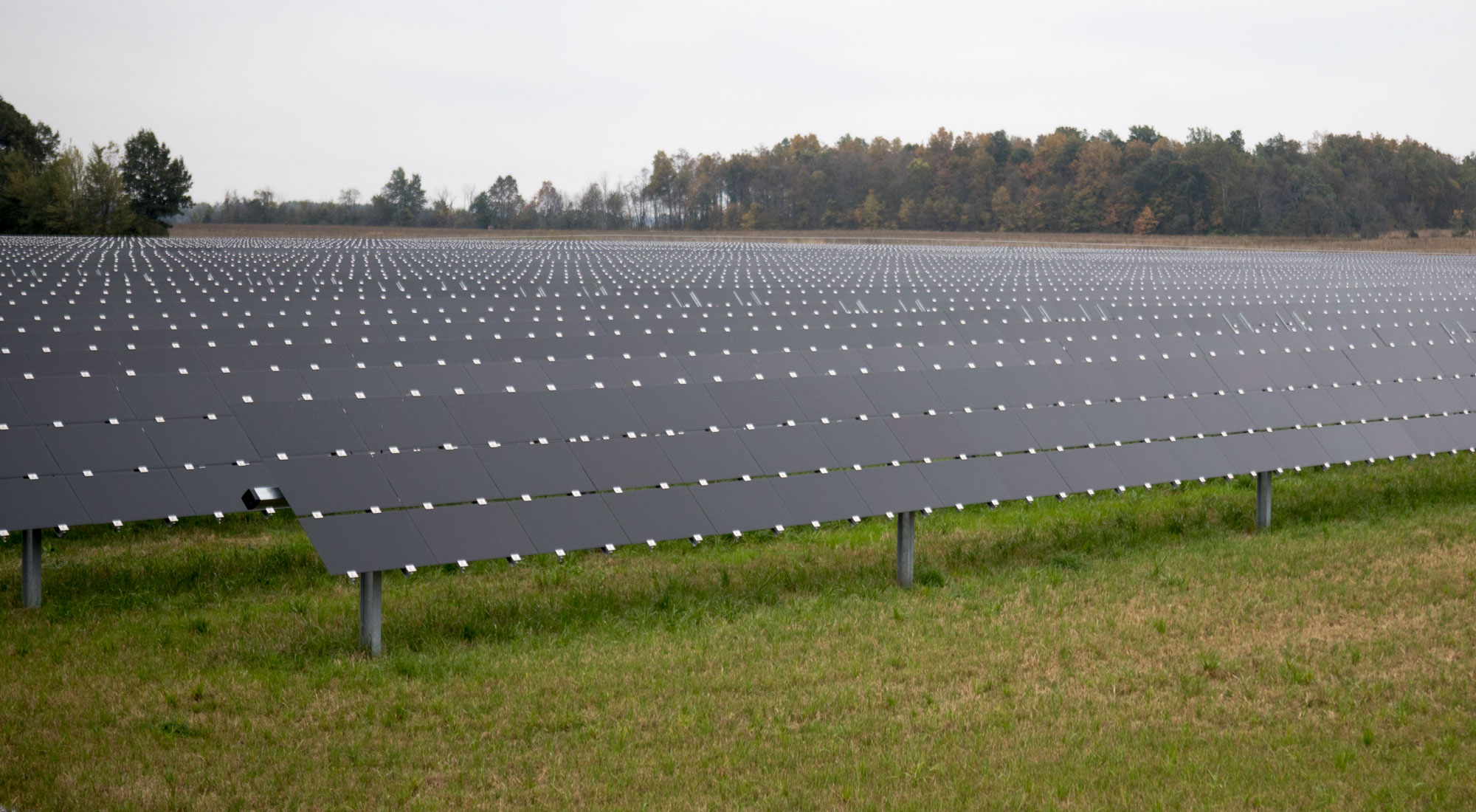solar field at Ohio Northern University.
