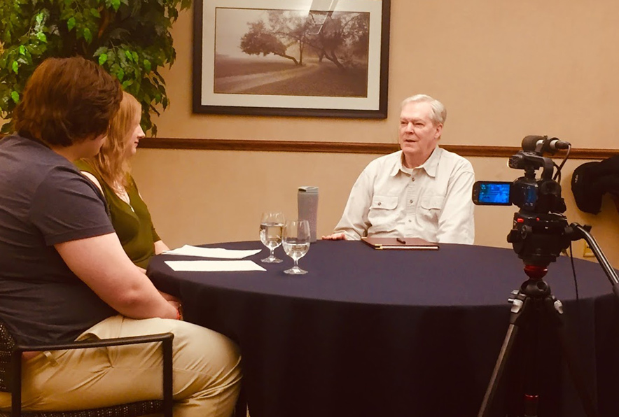 Ohio Northern University Students interview a former Ohio National Guard member about the Kent State shootings.