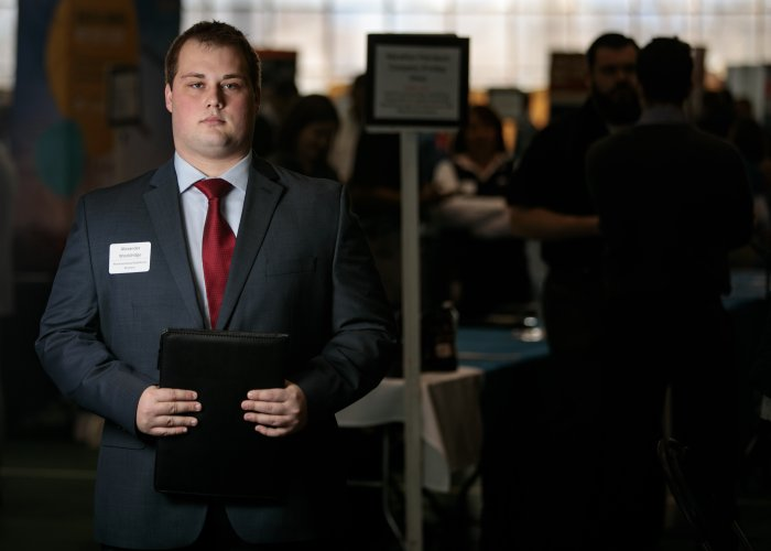 Alexander Wooldridge is pictured at the career fair.